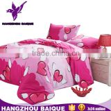 Home Using Polyester Lovers Pink Heart Print Bedding Sets                                                                         Quality Choice
