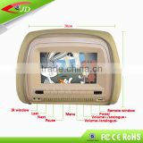 Super Quality Vehicle back seat tv 7 inch headrest car dvd player