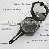Geological compass/High Quality Marine Compass Military Camping Navigation Lensatic Marine Compass