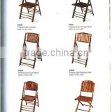 Portable bamboo folding chair