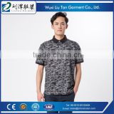 camouflage prin branded collar t-shirts black oem supplier