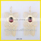 wholesale hoop golden earring of new jewelry fashion