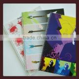 2014 new design single coil notebooks and PP cover