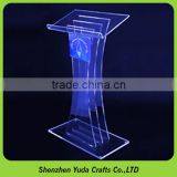 modern design acrylic podium acrylic table top lectern high-end LED acrylic podium pulpit lectern