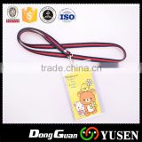 Plain polyester lanyard for badge with compatitive price in china