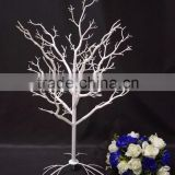 Indoor white color Wedding Table centerpieces Artificial manzanita Plastic Dry tree for Decoration