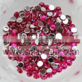 round crystal 3MM acrylic wedding metallic silver plated disc diamond bead flat back for jewelry accessory
