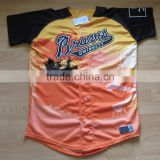 High quality professional sublimated custom baseball wear/jersey/softball shirts for sale