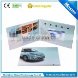 2016 Promotional Paper Card 7 inches lcd Video Brochure 210*210 mm Video Graphic Card with Speaker
