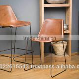 Giron iron & leather dining chair , vintage industrial restaurant furniture