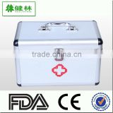 different size wooden/alumnium fire proof empty emergency first aid box /bag with lock and sponge