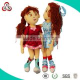 Cute Soft Wholesale Stuffed Funny Customed handmade fabric dolls for sale
