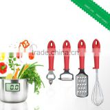 Fashion Eco-friendly Stainless steel with pp handle Kitchen Accessoriess Holder/Bottle Opener/egg Whisk 4PCS Dinnerware Set