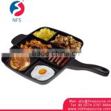 Ningbo Fine Source Sectioned Pan 5 Section Kitchen Skillet Square Master Divided Cooking Aluminum Grill Non Stick Frying Pan