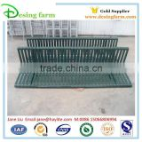 Cheap color powder coated metal park bench with leg