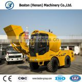 Hot sales bulk cement transport mixing truck with self loading