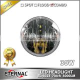 7in round off-road truck SUV cars 4x4 vehicles high power 30W dual sealed beam LED Headlight