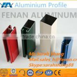 6063 alloy T-5 white powder coating aluminium profile for window usage extrusion profile film package