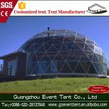 2017 popular steel frame seaside geodesic dome tent for sale
