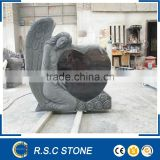 angel with heart granite tombstone granite monument