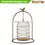 Metal hanging wedding bird cage for centerpiece wholesale