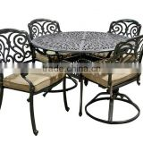 Trade Assuance Cast aluminium frame bar furniture counter compact dining table set designs