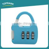 Toprank Factory Produce Bag Shaped Digit Resettable Changeable Combination Lock 3 Digits TSA Luggage Padlock Combination Lock