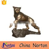 large golden wild big cat garden ornaments for sale NTBA-C009Y