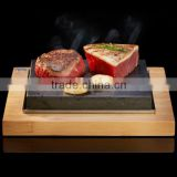 2017 Bamboo rectangular barbecue tray with groove