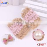 Wholesale DIY pearl center new design popular style bow hair accessories for baby hair decoration