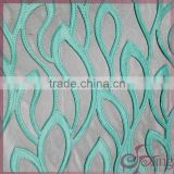 mint green laser cut applique embroidery polyester netting lace fabric for fashion dress/wedding dress/scarf/party dress