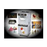 Floor Model Frozen Yogurt Making Equipment, 3 Flavors Soft Serve Ice Cream Maker With Pre-Cooling Sy