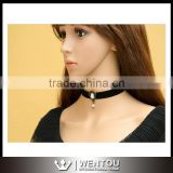 Elegant Ribbon Pearl Lace Choker Clavicle Short Necklace