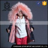 Hot Selling italian kids winter fur jackets with removable lining