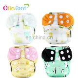 Elinfant Waterproof Cloth Diaper Cover for baby One Size Adjustable Washable Nappies new born AIO baby cloth diaper