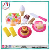 2017Cheap Plastic Cake Toys Pretend Play Toy Set Kitchen Toy Set For Kids