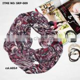 2015 women muslim printed tube paisley head scarf