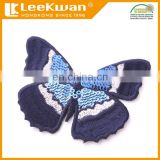 Iron-on butterfly patch with sequin embroidery applique