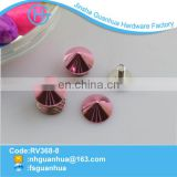 Colorful design custom metal fashion shining screw spike
