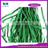 Promotional Green Flat Elastic Cord With Plastic Barbed End