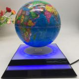 led light Square base magnetic floating levitate bottom globe 6inch 7inch 8 inch for decor