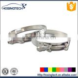hot sale automotive constant tension spring loaded T bolt stainless steel hose clamp