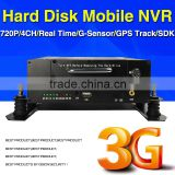720P MNVR, H.264, 3G Mobile NVR,Real time Video Monitor ,GPS Track,IO,G-sensor,Support iPhone , Android Phone