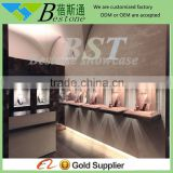 high grade (store wooden furniture) glass display cabinet and showcase for jewelry shop with pull out drawer
