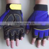 Blue, Red or black Fingerless safety Protection Automotive, Household, Mechanic Work Gloves