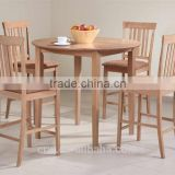 DT-4074 Contemporary Bar Height Wooden Counter Dining Table and Chair