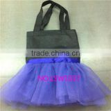 2016 newly design purple girls tutu bags,Halloween kids lovely tutus bag,little toddlers lace dancing tote bags