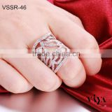 Newest Wholesale High Quality Full Zircon Diamond Real value 925 sun Sterling Silver Ring