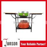 Folding BBQ Shelf and Patented Design Charcoal Grill/Indoor Smokeless Charcoal Barbecue Grill