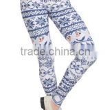 Woman Body Fitted Fair Isle Snowman Leggings / Tights Full Sublimated with custom design